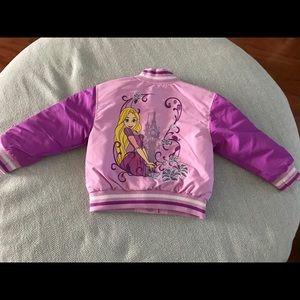 New! DISNEY STORE RAPUNZEL varsity jacket coat 2y